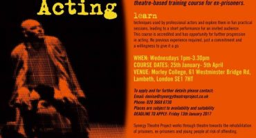 Free ten-week acting course for ex-prisoners
