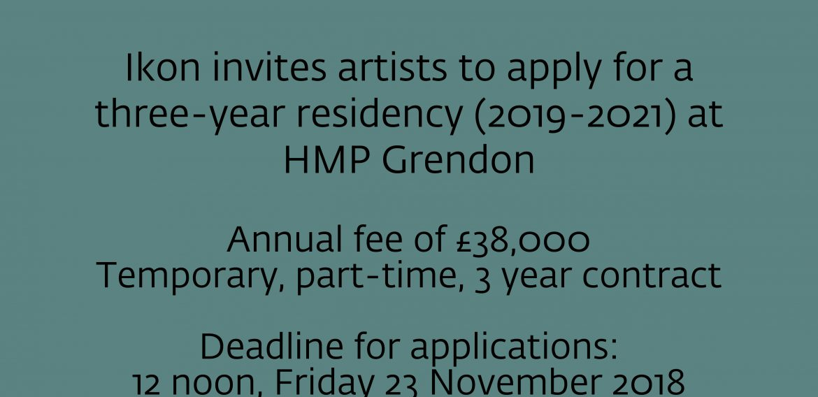 HMP Grendon and Ikon seek new artist in residence