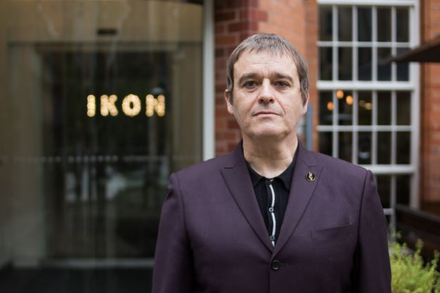 Dean Kelland standing outside Ikon Gallery