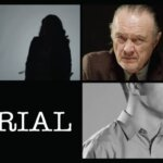 "Four images in a grid, featuring the title ""TRIAL"" in one, a woman in another, and men in the last two"